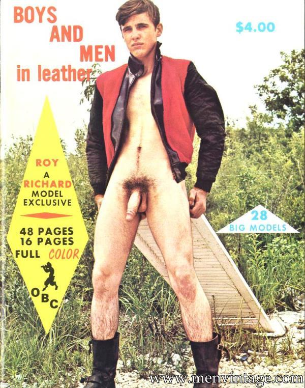 Boys And Men In Leather vintage male erotic magazine