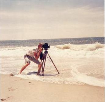 male photographer mel roberts making a film in florida