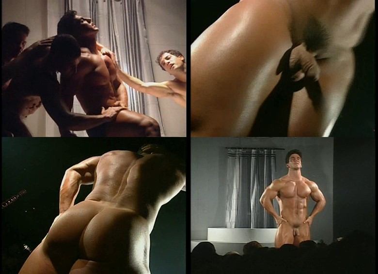 video of bodybuilder performing striptease