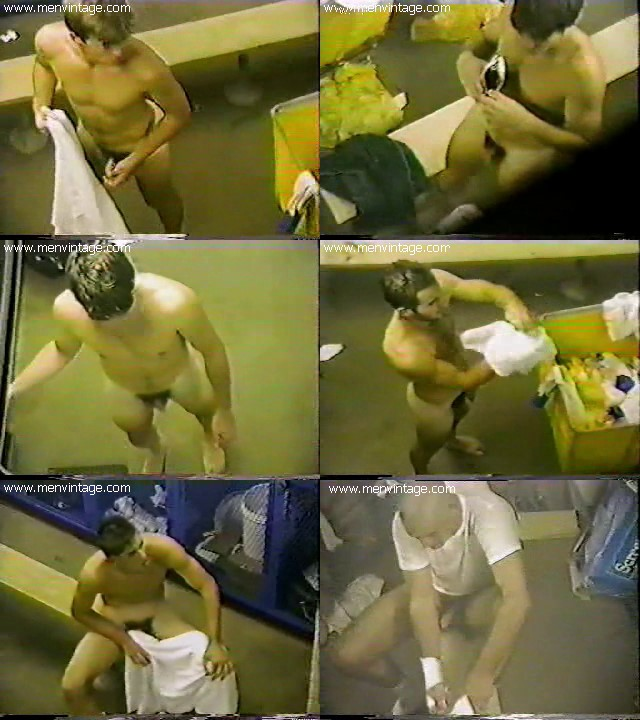 naked sportsmen in changing room vintage gay spy cam