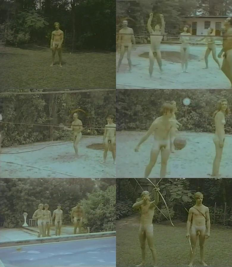 naked boys and men outdoors vintage video