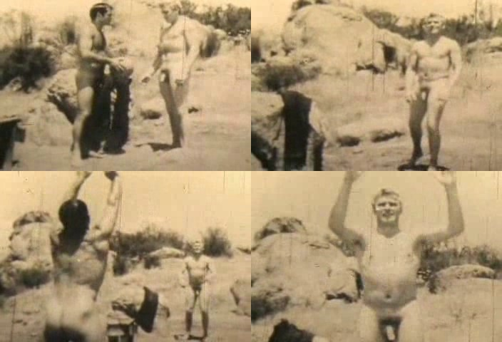 vintage male nudism muscle men video
