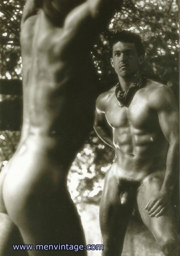 naked muscle hunks in male vintage erotica