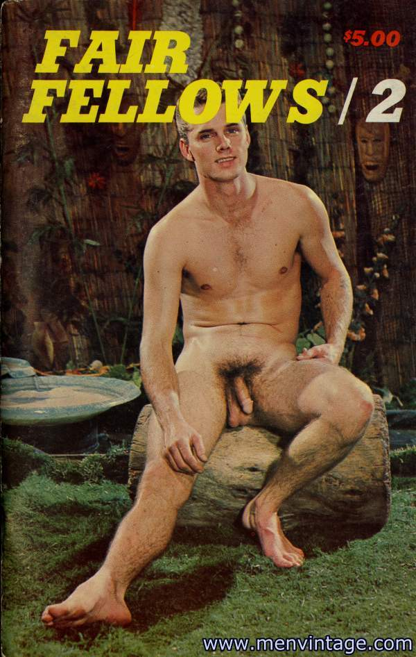 muscle guys nude in male vintage erotic magazine