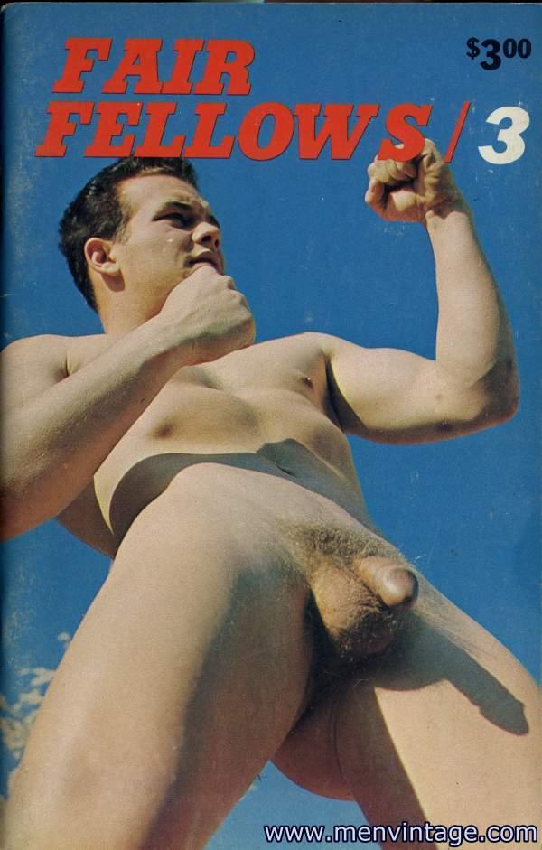 muscle men nude in vintage photo art
