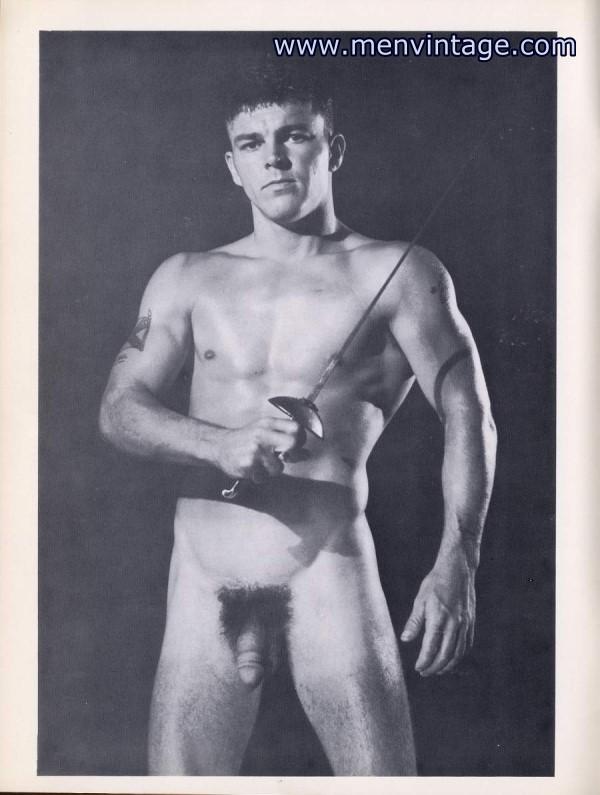 male vintage model John Adams nude