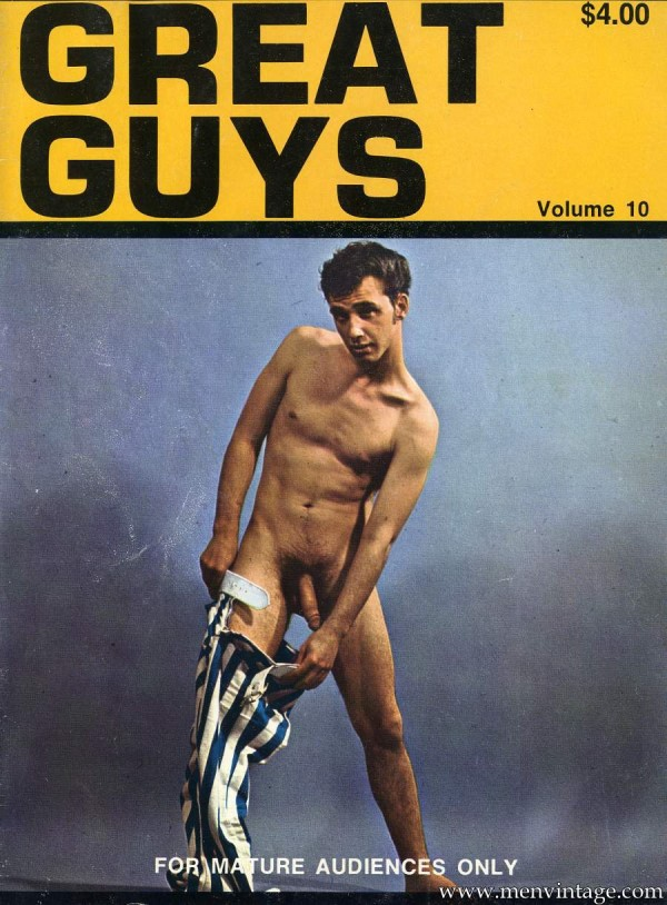 Gay vintage magazine with hairy nude boys