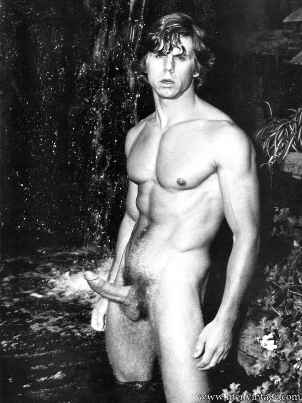Vintage nude male models with erections