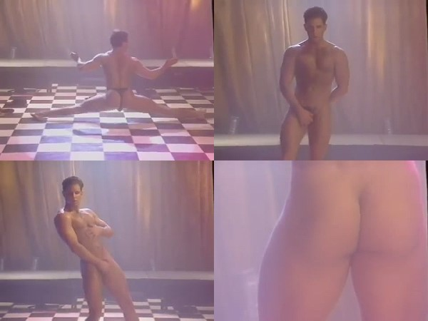 naked young man strip dance