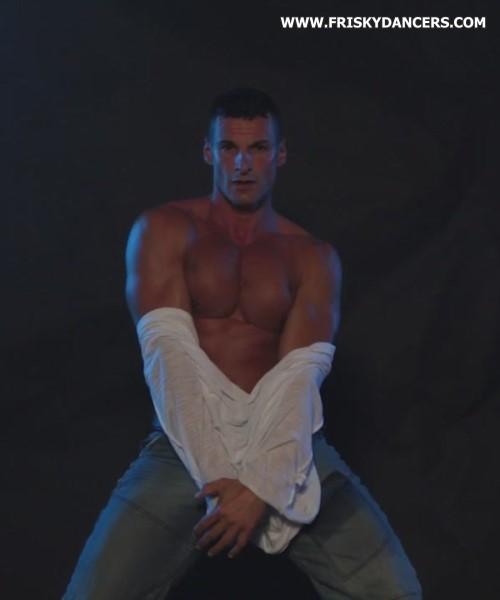 muscled male stripper