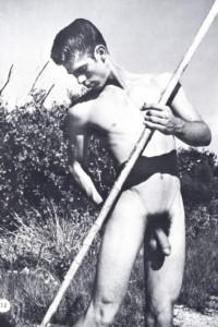 male athletes nude in male vintage erotica