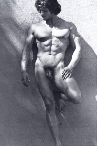 Beautiful muscle men naked in vintage erotica