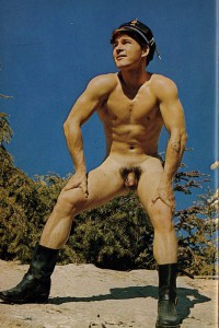 Naked muscle guy outdoors erotic art