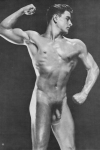 muscle men naked in vintage male erotica