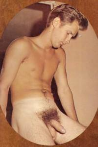 nude muscle guy in vintage erotic art