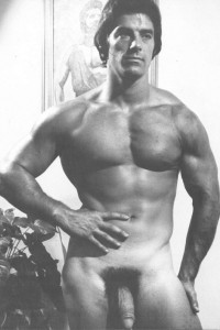 Hot muscle man naked in erotic art