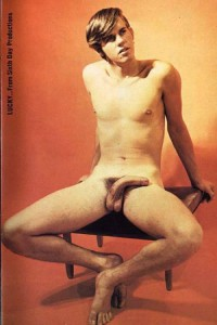 Sweet young boys nude in erotic vintage magazine.