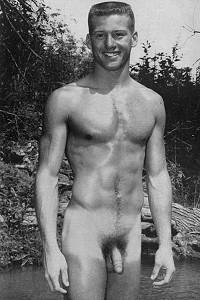 male vintage nude art
