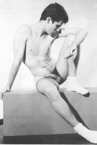 Young nude boy from male erotic vintage magazine